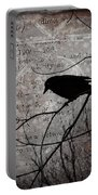 Crow Thoughts Collage Portable Battery Charger
