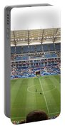 Crowd In A Stadium To Watch A Soccer Portable Battery Charger
