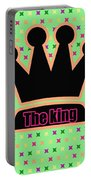 Crown In Pop Art Portable Battery Charger by Tommytechno Sweden
