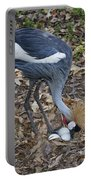 Crowned Crane And Eggs Portable Battery Charger