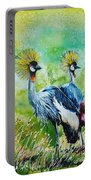 Crowned Cranes Portable Battery Charger