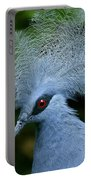 Crowned Pigeon Goura Cristata, Bali Portable Battery Charger