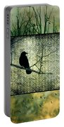 Crows In Nature Collage Portable Battery Charger