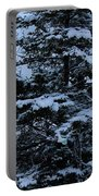 Crows Perch - Snowstorm - Snow - Tree Portable Battery Charger