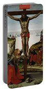 Crucifixion With Mary Magdalene Portable Battery Charger