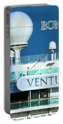 Cruise Ship Ventura's Radar Domes Portable Battery Charger by Terri Waters