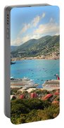 Cruise Ships In St. Thomas Usvi Portable Battery Charger