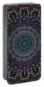 Crushed Blue Velvet Kaleidoscope Portable Battery Charger