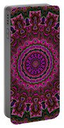 Crushed Pink Velvet Kaleidoscope Portable Battery Charger