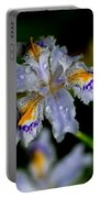 Crying Fringed Iris-iris Japonica Portable Battery Charger