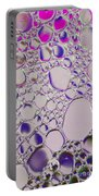 Crystal Pink Abstract Portable Battery Charger