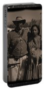 Csa Cavalryman And Wife Portable Battery Charger