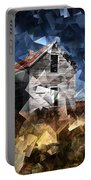 Cubist Abandoned Prairie Farm House Portable Battery Charger
