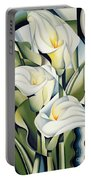 Cubist Lilies Portable Battery Charger by Catherine Abel