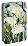 Cubist Lilies Portable Battery Charger