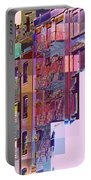 Colorful Old Buildings Of New York City - Pop-art Style Portable Battery Charger