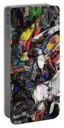 Cubist Photographic Composition Of Totem Poles Portable Battery Charger