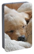 Cuddling Labrador Retriever Puppy Portable Battery Charger