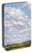 Cumulus Clouds Over Flint Hills Portable Battery Charger by Erin Fickert-Rowland
