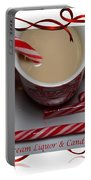 Cup Of Christmas Cheer - Candy Cane - Candy - Irish Cream Liquor Portable Battery Charger