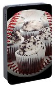 Cupcake Cuties Baseball Square Portable Battery Charger