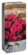 Cupcakes And Roses Portable Battery Charger by Terri Waters