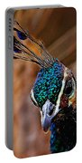 Curious Peacock Digital Art Portable Battery Charger