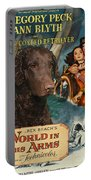 Curly Coated Retriever Art - The World In His Arms Movie Poster Portable Battery Charger