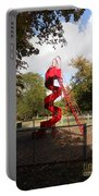 Curly Q In Autumn Sun Portable Battery Charger