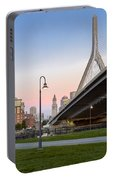 Custom House And Zakim Bridge Portable Battery Charger