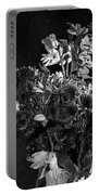 Cut Flowers In Monochrome Portable Battery Charger