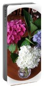 Cut Hydrangeas Portable Battery Charger