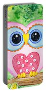 Cute As A Button Owl Portable Battery Charger