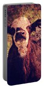 Cute Calf Grunge Portable Battery Charger by Cassie Peters