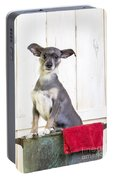 Cute Dog Washtub Portable Battery Charger