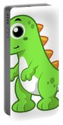 Cute Illustration Of Tyrannosaurus Rex Portable Battery Charger