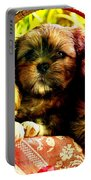 Cute Terrier Puppies Portable Battery Charger by Marvin Blaine