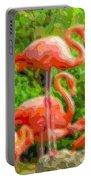 Cutout Layer Art Animal Portrait Flamingo Portable Battery Charger