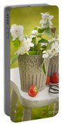 Cutting Orange Blossom Portable Battery Charger
