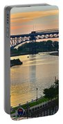 Cuyahoga River Cleveland Ohio Portable Battery Charger