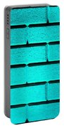 Cyan Wall Portable Battery Charger by Semmick Photo