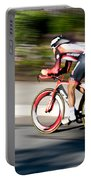 Cyclist Racing The Clock Portable Battery Charger