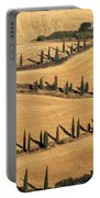 Cypress Tree Lined Road Portable Battery Charger