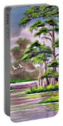 Cypress Trees-wakulla River Florida Portable Battery Charger