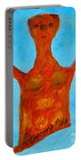 Cyprus Goddess With The Lifted Hands Portable Battery Charger by Augusta Stylianou