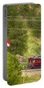 Cyrus K. Holliday Rail Car And Usa Flag Portable Battery Charger