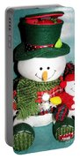 Daddy And Baby Snowmen Decorations Portable Battery Charger