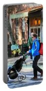 Daddy Pushing Stroller Greenwich Village Portable Battery Charger