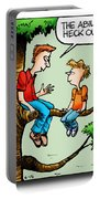 Daddy's Home Dad And Son Bond Scaring Mom Portable Battery Charger