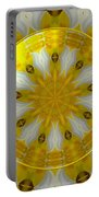 Daffodil And Easter Lily Kaleidoscope Under Glass Portable Battery Charger